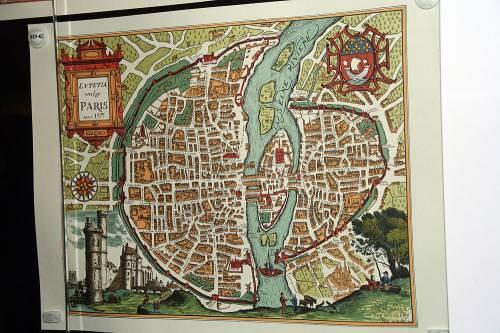 Средневековый план Парижа